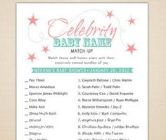 Great baby shower games