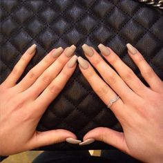 """""""pinterest: @ nandeezy †"""" - so cute and sophisticated manicure, simple color and jewelry but so impressive ❤️"""
