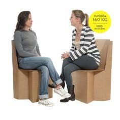 Cadeira de Papelão - Cartone Design - Móveis de Papelão
