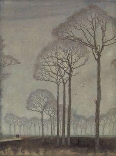 Bomenrij (Tree Row), 1915 by Jan Mankes #art #trees #jan_mankes