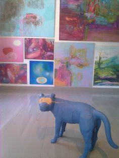 Enni Kömmistö: Blue Dog and several paintings of other artists
