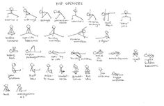 """ kid like"" drawing for yoga postures"