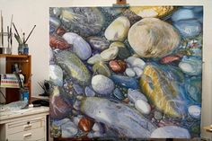 Artist Elizabeth Tyler: May 2012 Landscape Art, Landscape Paintings, Kunst Der Aborigines, Art Society, Seascape Paintings, Aboriginal Art, Painting Inspiration, Flower Art, Watercolor Art
