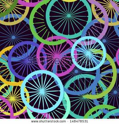 Stylish bicycle and silhouette /seamless textureStylish bicycle and silhouette /seamless texture