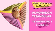 ALMOHADÓN TRIANGULAR - Crochet en Tiempo Real con mamaQuilla!