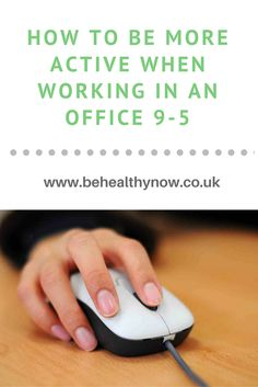 Recent research on more than one million adults found that sitting for at least eight hours a day could increase the risk of premature death by up to 60 percent.  How are you keeping active? Too busy for that? Just read my tips here then: http://www.behealthynow.co.uk/fitness/how-to-be-more-active-when-working-in-an-office-every-day-9-5/