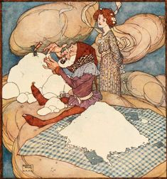 Edmund Dulac - part 1 Fantasy Illustration, Botanical Illustration, Japanese Prints, Japanese Art, Victorian Books, Edmund Dulac, Children's Picture Books, Arabian Nights, Linocut Prints