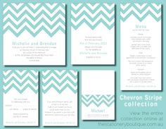 The two most popular trends for 2013.  Chevron and mint-green!