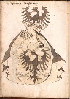 Wernigeroder (Schaffhausensches) Wappenbuch Süddeutschland, 4. Viertel 15. Jh. Cod.icon. 308 n  Folio 8v
