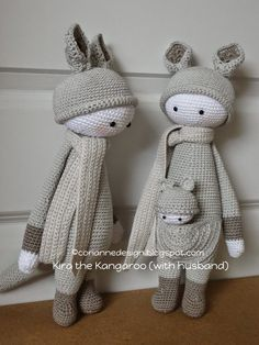 KIRA the kangaroo made by coriannedesign / crochet patterns by lalylala