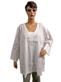 Womens Boho Fashion White Tunic Top Summer Cotton Blouse Xxxl Size Mogul Interior, http://www.amazon.com/gp/product/B007Y370FE/ref=cm_sw_r_pi_alp_BX9vqb1YM7SW8