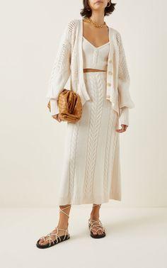 Modern Wardrobe, Holiday Sweater, Jonathan Simkhai, Cable Knit, Lana, Wool Blend, Knit Crochet, Knitwear, Crop Tops