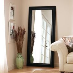 Better Homes & Gardens Bronze Full Length Floor Leaner Mirror - 27 X 70 inches Image 4 of 4 Full Length Mirror In Bedroom, Full Length Floor Mirror, Long Mirror, Black Floor Mirror, Big Mirrors, Mirror For Bedroom, Mirror Over Couch, Cheap Large Mirrors, Modern Floor Mirrors