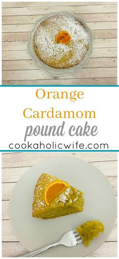 Orange Cardamom Pound Cake | orange cardamom pound cake is a light, fresh citrus cake made with oranges, olive oil, and cardamom. It's moist, delicious and very easy to make. | www.cookaholicwife.com