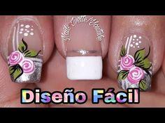 Uñas sencillas y fácil de hacer/Uñas decoradas para principiante - YouTube Toe Nails, Pedicure, Nail Polish, How To Make, Beauty, Nails Decoradas, Easy Nails, Youtube, Toenails