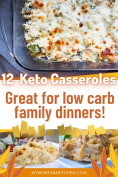 These keto casseroles include ideas for recipes to make ahead, cabbage casseroles, simple broccoli and chicken casserole, as well as jalapeño popper casserole! All great low carb casserole recipes! #ketocasseroles #lowcarbcasserole #lowcarb #keto