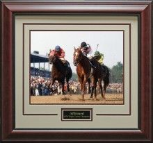 Triple Crown Winner Affirmed Photo Matted and Framed