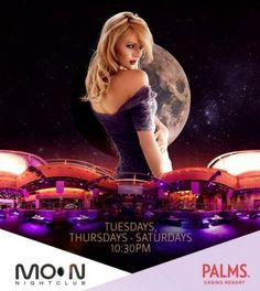 03-01-2013 - Moon Fridays  At: Moon Nightclub @ Palms Hotel      Dance under the stars in Las Vegas' only convertible nightclub, Moon! The exclusive penthouse nightclub occupying the top floor of the Palms' Fantasy Tower features a massive retractable roof, strip views, and sexy atmosphere. Sounds by Exodus with Presto One.