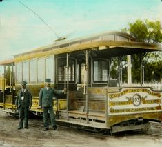 first_trolley_ls_12357.jpg-First Trolley-1890s Los Angeles- in Los Angeles, an English photographer named Frederick Hamer Maude delivered popular magic lantern lectures about the American Southwest fom the 1890s through the first half of the 20th century. Maude amassed a huge collection of hand-colored lantern slides – now part of the Braun Research Library Collection at the Autry Museum of the American West, along with his hand-written lecture notes – from which the following images are…