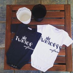 Springtime is loading... Twince & Twincess onesies are ready to wear!