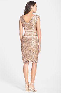 Tadashi Shoji Embellished Metallic Lace Sheath Dress (Regular & Petite)   Nordstrom