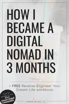 How I became a digital nomad in 3 months. I was done with office jobs and had dreams of travel & location independence. Living a digital nomad lifestyle.