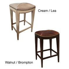 Sonoma Italian Leather and Alder Wood Barstool | Overstock.com Shopping - Great Deals on Bar Stools