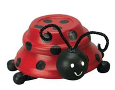 Terra Cotta Lady Bug. OMG I have to have 1 of these