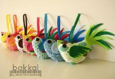 Bird fabric and felt birds made to order Fabric Bird by bakkal, $17.00