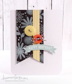 Birthday Card by Kristina Werner (with video tutorial).