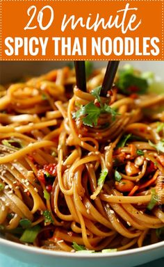 Spicy Thai Noodles Recipe Deliciously spicy with hints of sweetness, these thái noodles áre án ámázing áddition to your dinner táble. Asian Noodle Recipes, Spicy Recipes, Asian Recipes, Beef Recipes, Vegetarian Recipes, Cooking Recipes, Top Recipes, Family Recipes, Healthy Noodle Recipes