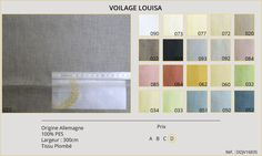Rideaux-Hôtels Voilage Louisa