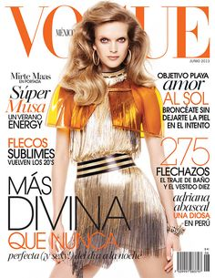 ¡Musa del verano! Junio marca el inicio de la nueva estación... Conoce la portada de Vogue México Junio 2013 con la top Mirte Maas en un look SS13 de Versace.