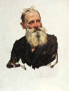 PORTRAIT of an Old Man by Soviet Ukrainian Painter by ArtNostalgie