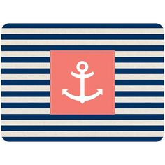 Add a decorative nautical touch to any room with the Bungalow Flooring Anchor Stripe Accent Kitchen Mat. This durable mat features a woven, anti-fade face that captures the colors and graphics of its design in near photographic quality. Coastal Rugs, Coastal Bedding, Coastal Cottage, Coastal Style, Coastal Decor, Coastal Living, Coastal Entryway, Modern Coastal, Coastal Farmhouse