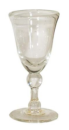 Daniel Boone Trading Post 6 Baluster Wine Glass Clear - Each glass is uniquely different the way they where hand blown in early Colonial America Clear,Amber,green,and cobalt where all common colors to the Colony's Colonial, Décor Antique, Mason Jar Wine Glass, Hurricane Glass, Decoration, Blown Glass, Antiques, Tableware, 18th