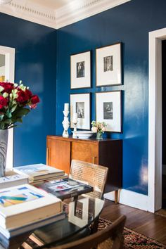 High-gloss blue dini