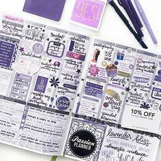 Today's #PCW is...  @elicit4tography's!   -  We are obsessed with her purple weekly layout!  Thanks for celebrating the launch of our newest Limited Passion Planner, #LavenderBliss!   -  Be sure to check out our website before they're gone!   -  #passionplanner #plannergoals #plannercommunity #plannerinspiration #mandala #pashfam