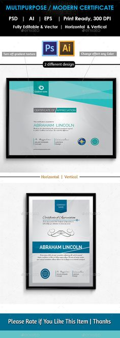 #Multipurpose #Certificates GD018 - Certificates #Stationery Download here: https://graphicriver.net/item/multipurpose-certificates-gd018/11042026?ref=alena994