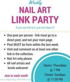 Weekly Nail Art Link Party - share your nail art and beauty blogs!