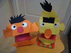 Ernie en Bert van en rijstdoosje