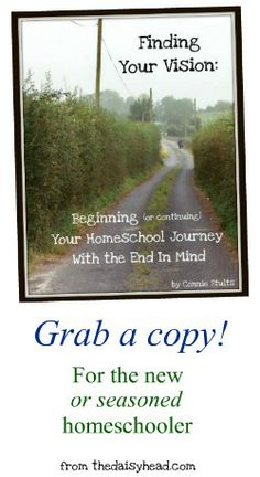 Finding Your Vision~ This ebook walks you through finding *your* vision for your homeschool. Knowing where you're going brings freedom and peace to your homeschool journey!