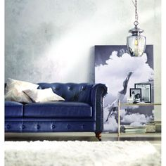 Home decor at The Home Depot: True luxury exists in this velvet sofa.