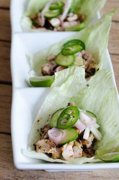 """Vietnamese Chicken Lettuce Wraps"" | @AlexTCooks #recipe #glutenfree #simple"