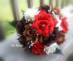 not crazy about the silk look but get this in real flowers..pretty fall bouquet