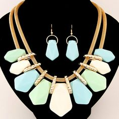 0f1c1ff41cd9a ... Necklaces   Pendants Multilayer Statement Necklace Earrings Sets For  Women-in Jewelry Sets from Jewelry   Accessories on Aliexpress.com
