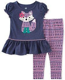 Kids Headquarters Little Girls' Fox 2-Pc. Printed Tunic & Leggings Set