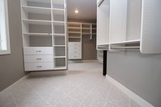 Closet carpeted with intricate patterned gray carpet. Gray Carpet, Patterned Carpet, Saratoga Homes, Bathroom, Closet, House, Inspiration, Home Decor, Grey Carpet