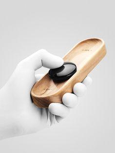 Originele afstandsbediening ontworpen door de laatstejaarsstudenten van de Parsons New School for Design in NY