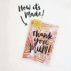 I've been so excited for today's #MarchMeettheMaker topic - How It's Made! I've put together a little story of how my Mother's Day design is made. Swipe left!  First I did the painting. I knew I wanted to make some leafy designs and a mother's day card was first on the list! I paint nearly everything using gouache paint - my absolute favourite medium. Then I figured out what message I wanted to put on the front and practiced lettering it until I got it exactly how I wanted it. Then I scan…